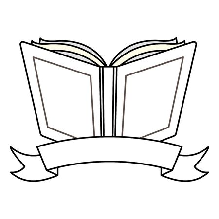 open book sticker back to school vector illustration