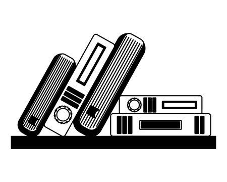 books literature encyclopedia knowledge read vector illustration