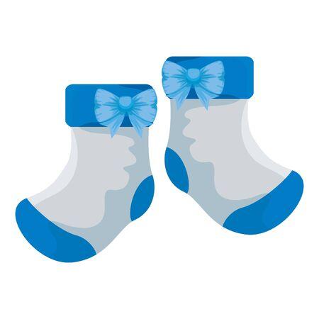 Baby Socken Kleidung isoliert Symbol Vektor Illustration Design Vektorgrafik