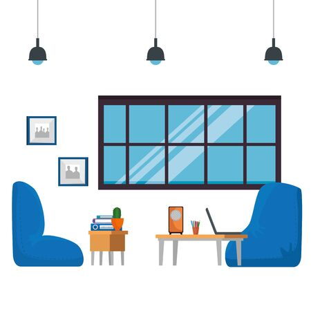 home living room place scene vector illustration design