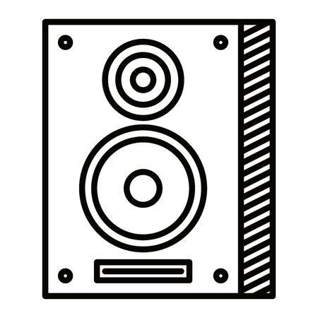 speaker column musical element icon vector illustration design