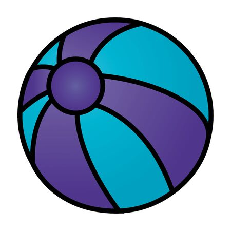 summer time holiday beachball toy vector illustration