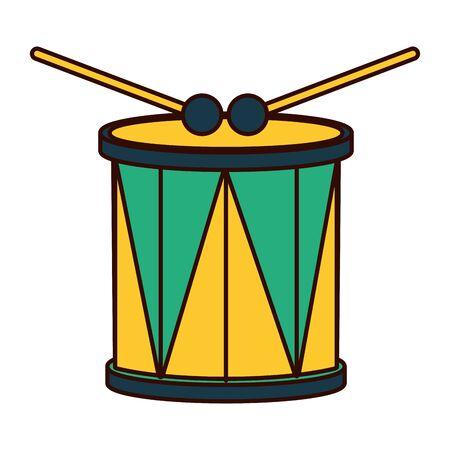 drum and sticks music instrument vector illustration Çizim