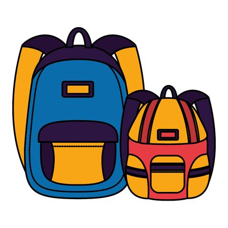 backpacks accessory back to school vector illustration