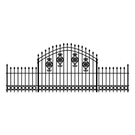 fence iron cemetery isolated icon vector illustration design 일러스트