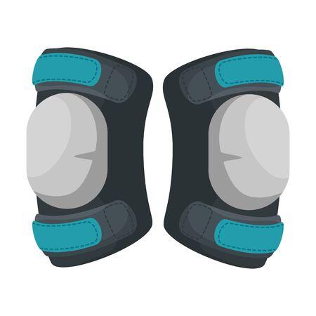 Genouillères de sport icône de l'équipement de conception d'illustration vectorielle Vecteurs