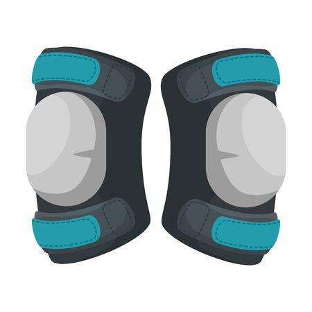 sports knee pads equipment icon vector illustration design