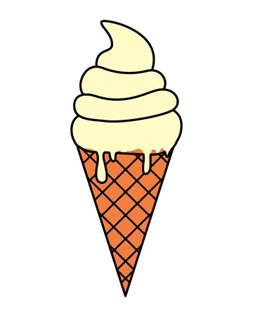 sweet ice cream cone icon vector illustration design 向量圖像