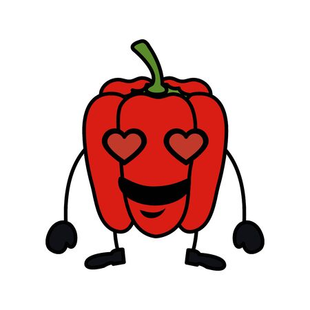 fresh pepper kawaii character vector illustration design Ilustrace