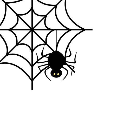 spin van halloween in ontwerp van de spinnenweb vectorillustratie