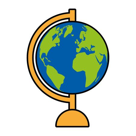 supply school globe map on white background vector illustration 일러스트