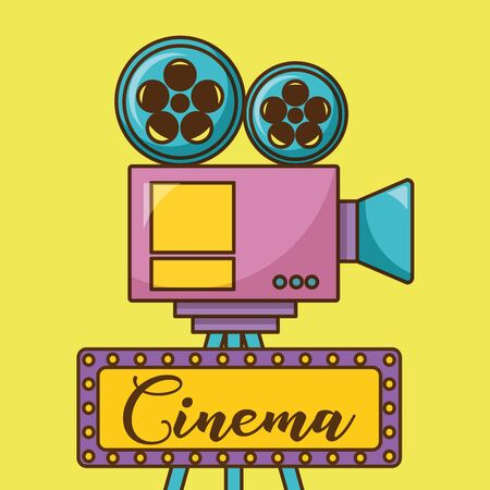 Cinema videocamera design, Movie video film media entertainment show and event theme Vector illustration