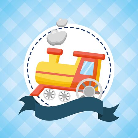 ilustracja pociągu zabawkowego Ilustracje wektorowe