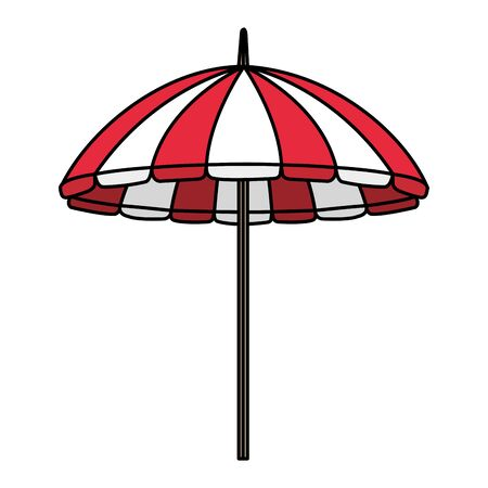 beach umbrella illustration design