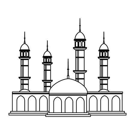 disegno dell'illustrazione della moschea