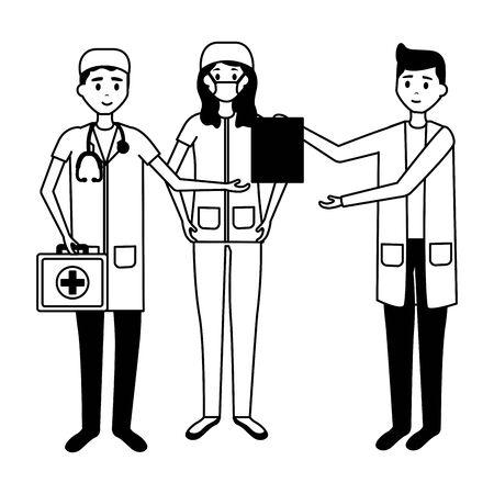 Doctors and nurse illustration Illustration
