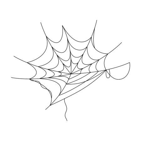 Spinnennetz-Illustrationsdesign Vektorgrafik