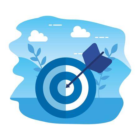 cible flèche succès icône illustration design