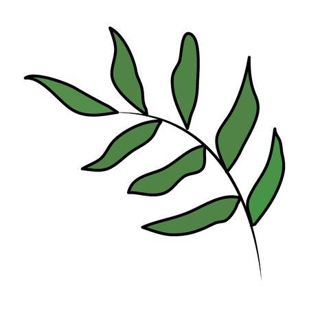 branch with leaves illustration design 向量圖像