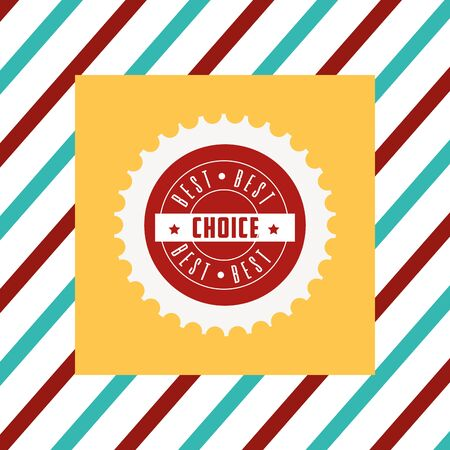 Best choice tag illustration