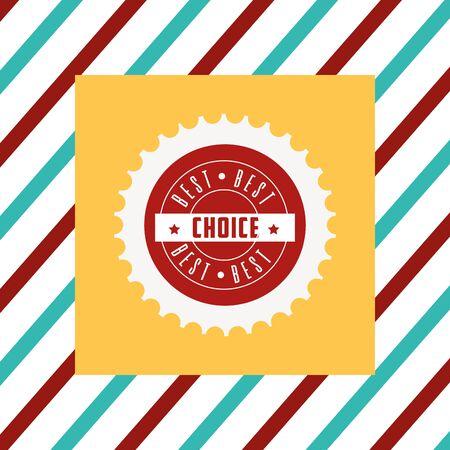 Best choice tag illustration
