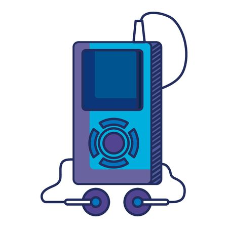 mp3 music player electronic icon illustration design  イラスト・ベクター素材
