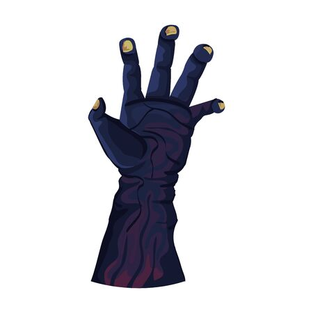 hand of zombie for halloween illustration design