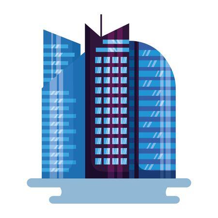 futuristic city building urban on white background  イラスト・ベクター素材