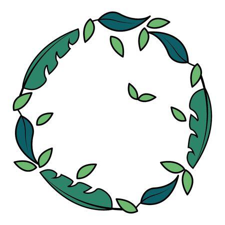 wreath leaves foliage on white background