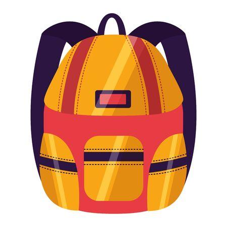 backpack accessory back to school vector illustration Stock Illustratie