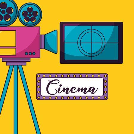 screen countdown projector cinema movie vector illustration Foto de archivo - 130356827