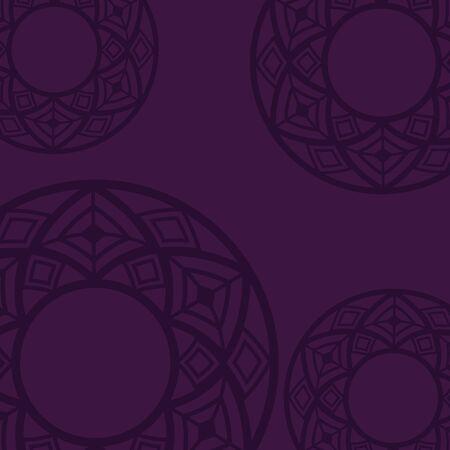 background purple mandala tribal ornate vector illustration