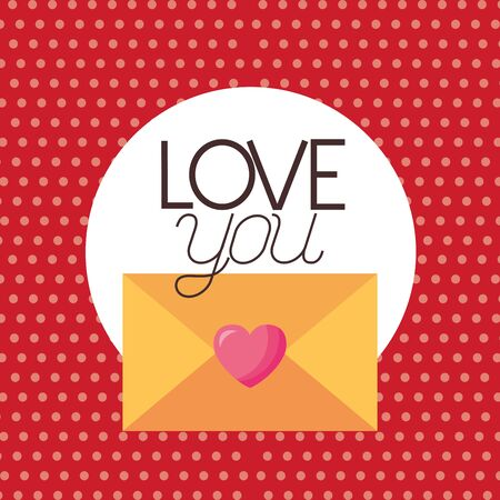 Card design, Love valentines day romance relationship passion and emotional theme Vector illustration