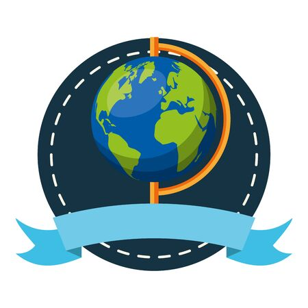 world map sticker back to school vector illustration