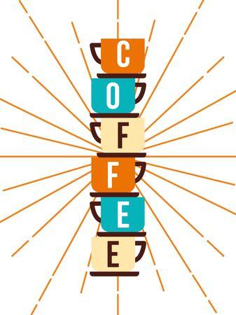 Coffee cups design, Drink breakfast beverage bakery restaurant and shop theme Vector illustration Vektoros illusztráció