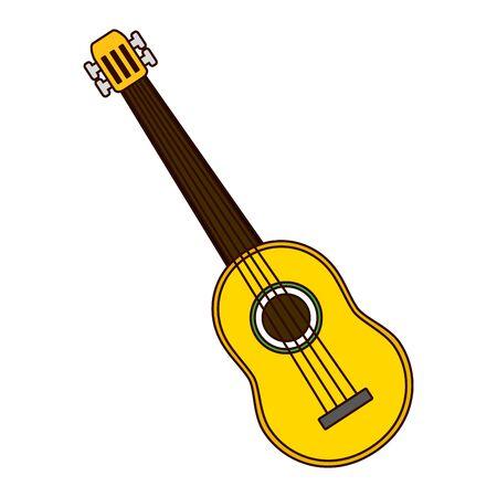 guitar music instrument on white background vector illustration