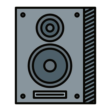 speaker column musical element icon vector illustration design Ilustração Vetorial