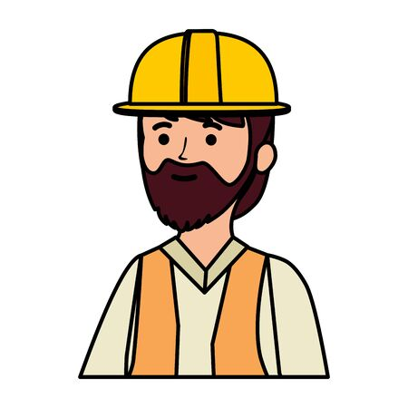 professional mechanic worker avatar character vector illustration design