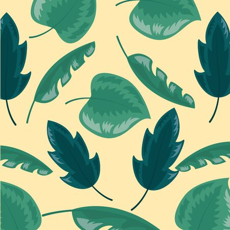 background decoration foliage nature tropical leaves vector illustration