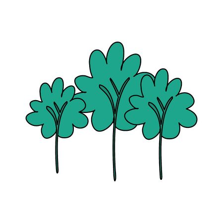 trees forest nature isolated icon vector illustration design Çizim