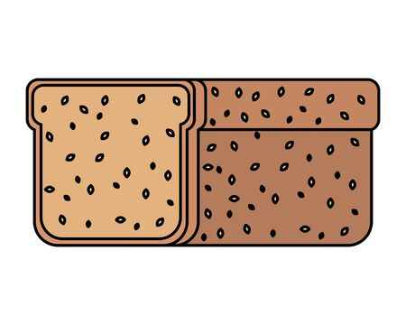 sliced bread integral healthy food vector illustration design