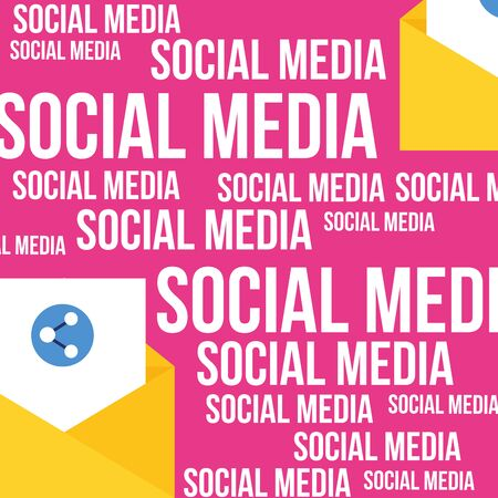 Social media and multimedia icon set, Apps communication and digital marketing theme Colorful design Vector illustration 版權商用圖片 - 130414680