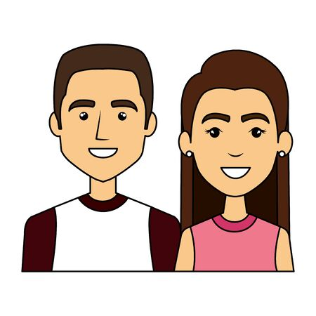 young couple urban style characters vector illustration design Standard-Bild - 130414737