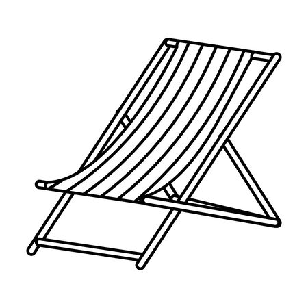 Stuhl Strand Sommer isoliert Symbol Vektor Illustration Design