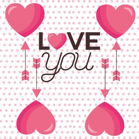 Hearts design, Love valentines day romance relationship passion and emotional theme Vector illustration
