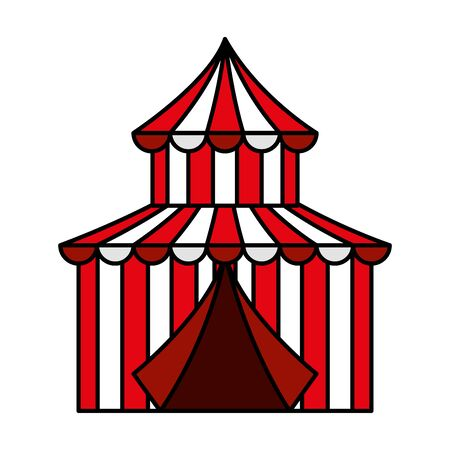 circus tent carnival icon vector illustration design
