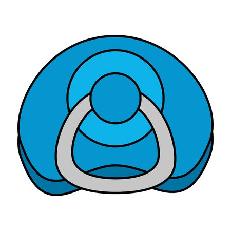 Schnuller Baby isoliert Symbol Vektor Illustration Design