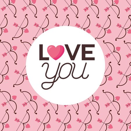 Hearts arrows design, Love valentines day romance relationship passion and emotional theme Vector illustration