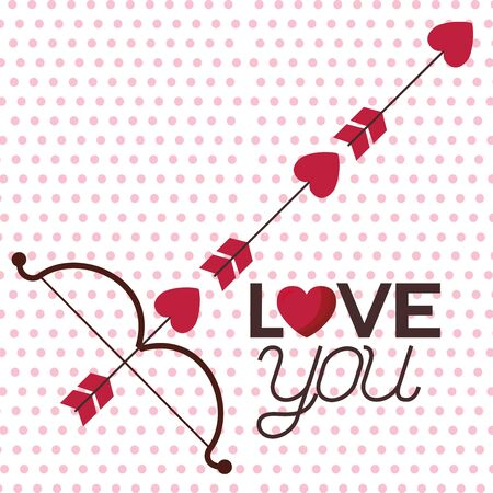 Heart arrows design, Love valentines day romance relationship passion and emotional theme Vector illustration