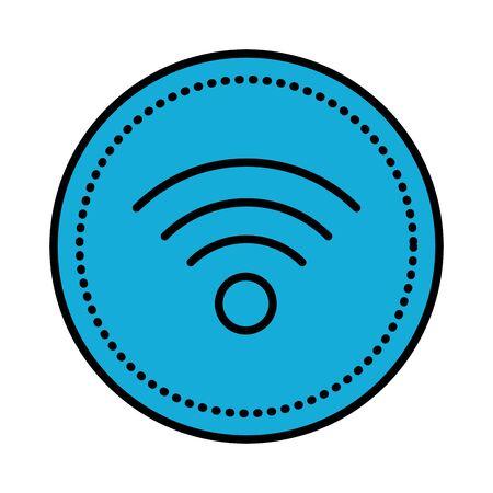Señal de ondas wifi, diseño de ilustraciones vectoriales icono aislado